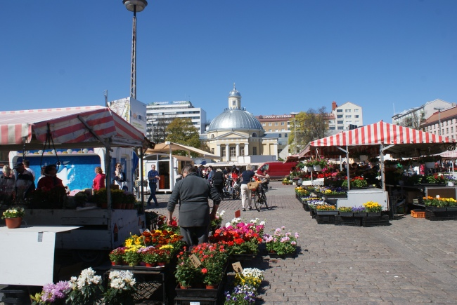 Salutorget i Åbo. Market Square in Turku. Turun Kauppatori.