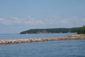Havsvy i Finland. A view to the sea in Finland. Merinäkymä Suomessa.
