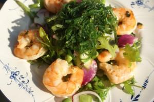 Skaldjurssallad, seafood salad, äyriäissalaatti