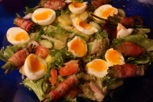 Sallad med haricots verts och ägg, salad with haricots verts and egg, salaatti ja papuja, kananmunia