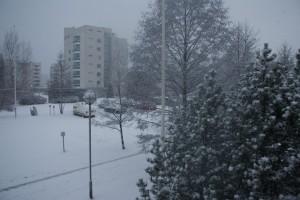 Snö i Åbo, snow in Turku, lunta Turussa
