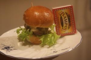 Minihamburgare, miniburger, minihampurilainen