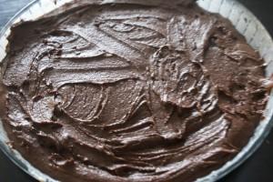 Lakritskladdkaka, mudcake with liquorice , lakritsinen tahmakakku