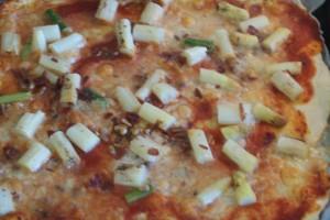 Sparrispizza, pizza with asparagus, parsapizza