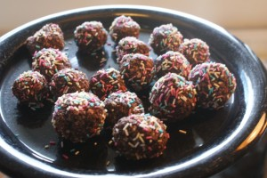 Chokladbollar, choclate balls, suklaapallot