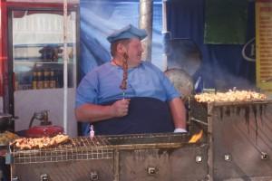 Shashlikförsäljare, saschlik seller, saslikin myyjä