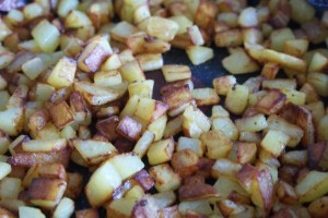 Råstekt potatis, fried raw potatoes, raakapaistetut perunat