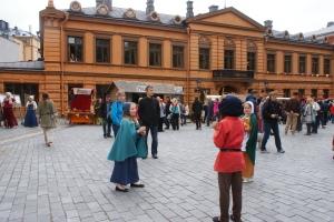 Medeltidsmarknad, medieval market, keskiajan markkinat