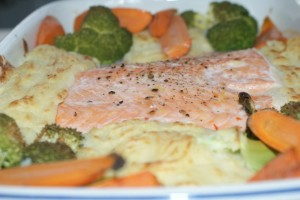 Ugnsbakad lax, oven baked salmon, uunilohi