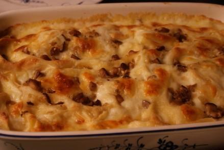 Svamplasagne, mushroom lasagne, sienilasagne