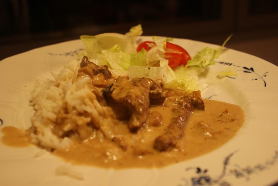 Oxgryta med svamp, beef and fungus casserol, härkä- ja sienipata