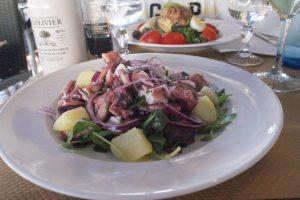 Salade de tentacules de calamar