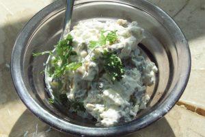 Sienisalaatti, svampsallad, mushroom salad