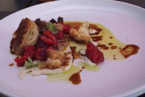 foire gras / kwiaty bzu / maliny foie gras / elder blossom / raspberry